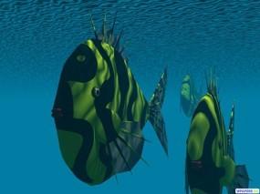 Обои 3D Рыбки: Рыбки, Под водой, Рендеринг