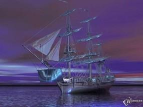 Обои 3D Корабль: Море, Корабль, Рендеринг