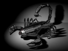 Обои 3D Скорпион: Металл, Скорпион, Рендеринг