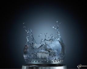 Обои Вода из плитки: Вода, Газовая плитка, Горелка, Газ, Рендеринг