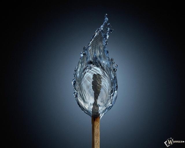 Вода из спички
