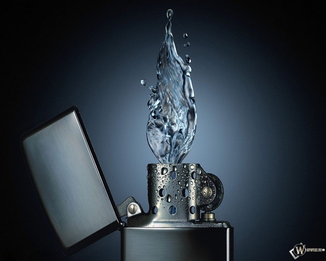 Вода из зажигалки