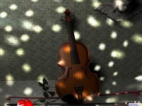 Обои Виаланчель: Цветы, Музыка, Виолончель, Рендеринг