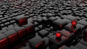 Обои Стеклянные шарики на кубиках 3D: Стекло, Кубики, Шарики, Рендеринг