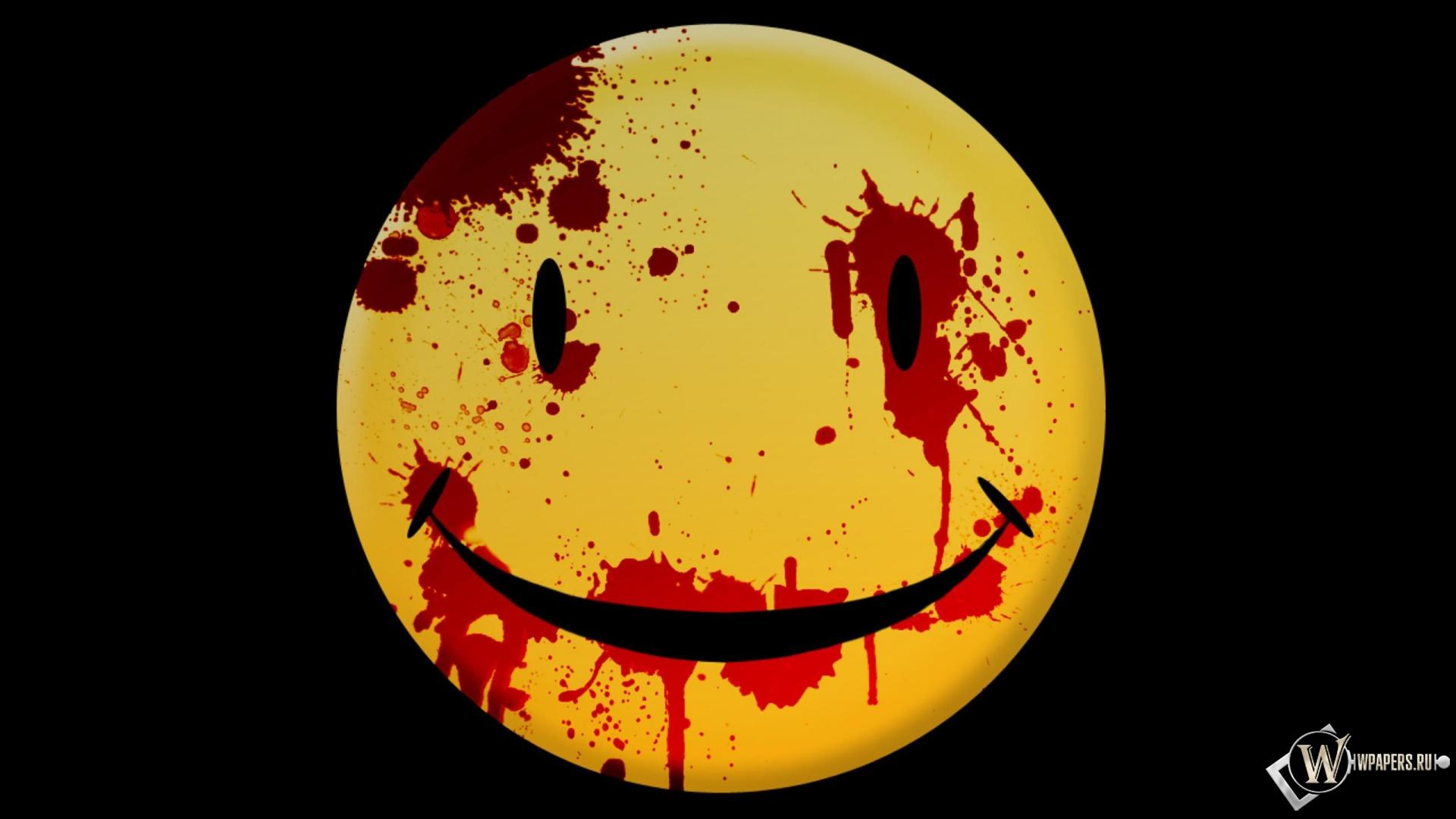 ... Кровь, Смайлик, Желтый, 1920x1080, картинки: wpapers.ru/wallpapers/3d/Rendering/5993/1920-1080_Кровавый...