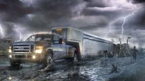 Обои Современный ковчег: Молния, Потоп, Ковчег, Ной, Рендеринг