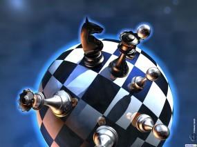 Обои Шахматы: Шахматы, Круг, Доска, Рендеринг