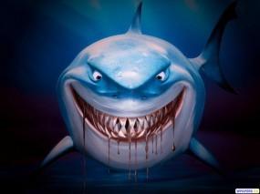 Обои 3D Акула: Кровь, Зубы, Акула, Рендеринг