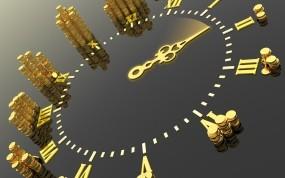 Обои Время - Деньги: Время, Деньги, Часы, Стрелки, Рендеринг