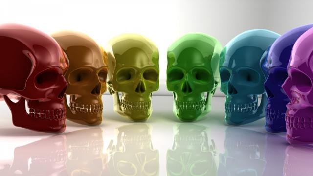Радужные черепа