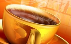 Обои Чашка горячего кофе: Кофе, Утро, Чашка, Рендеринг
