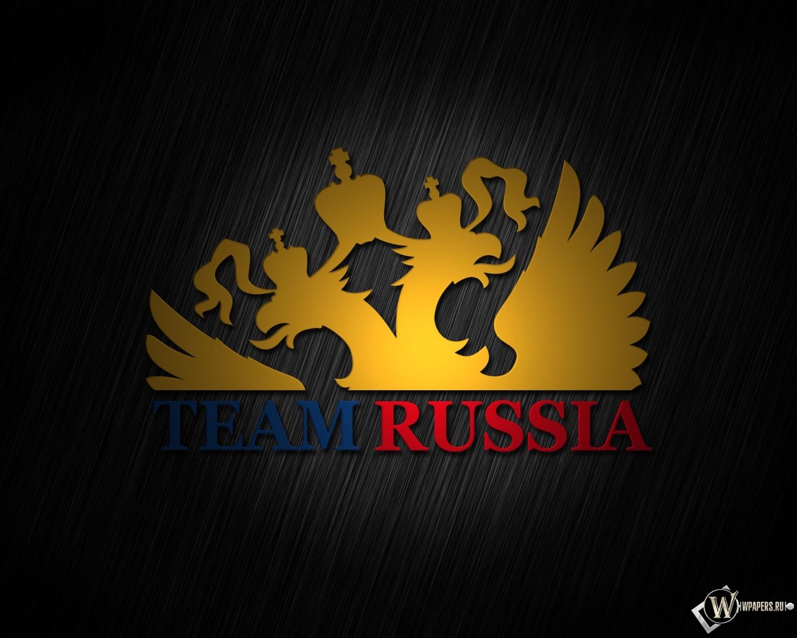 Обои team russia россия герб russia 1600x1280