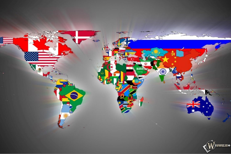 Карта мира 1500x1000