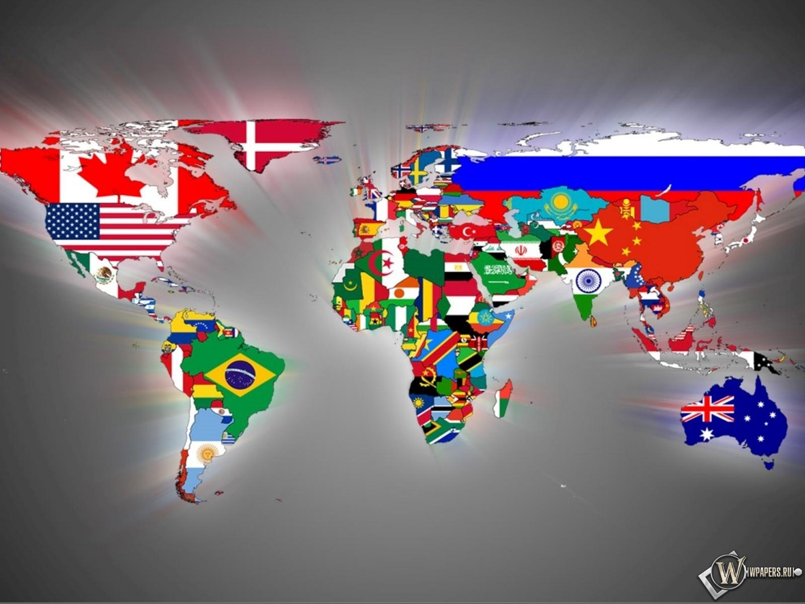 Карта мира 1600x1200