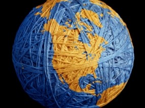 Обои Земля из клубка ниток: Земля, Планета, нитки, клубок, Разное