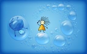 Человечки с мыльными пузырями