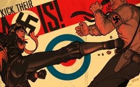 Обои Фашисты: Девушка, фашист, Разное