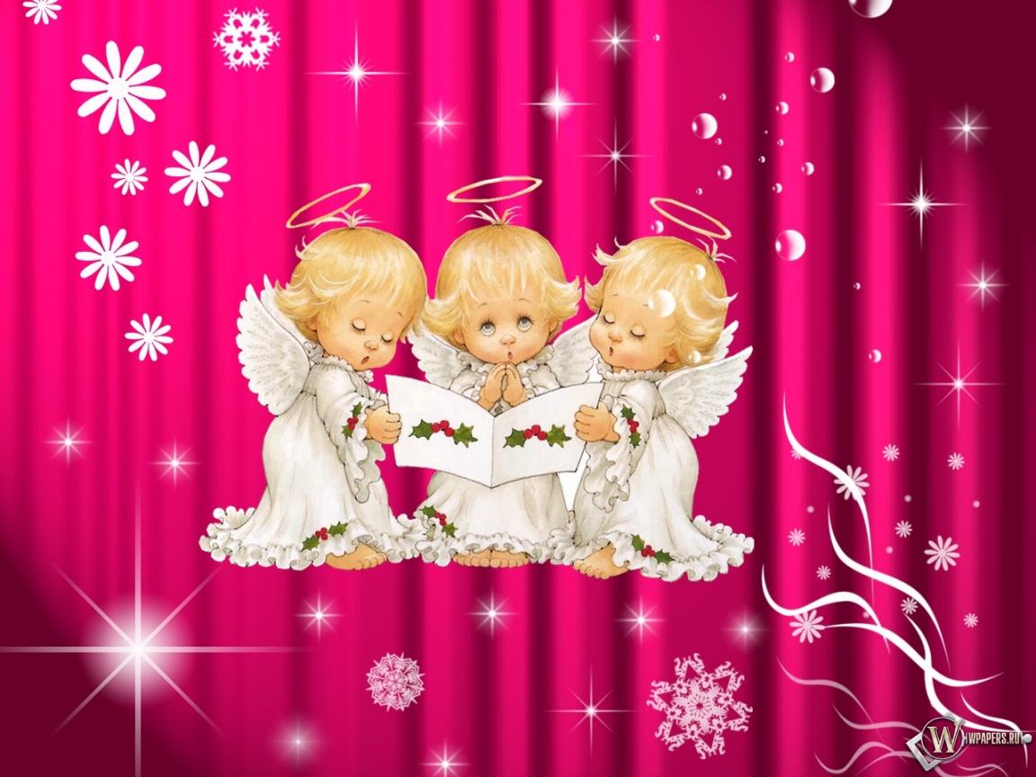 Красивые обои для рабочего стола ангелочки
