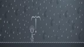 Обои Типографский человечек: Дождь, Буквы, типографика, Разное