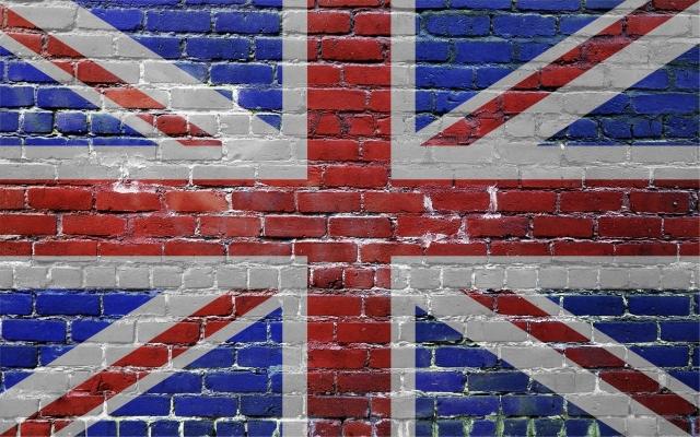 Стена великобритания кирпич флаг