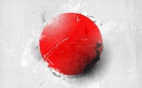 Обои Японский флаг: Минимализм, Япония, Красный, Круг, Разное
