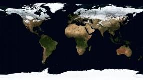 Карта мира в ледниковый период