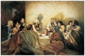 Обои Леонардо да Винчи Тайная вечеря: Картина, Иисус, Разное