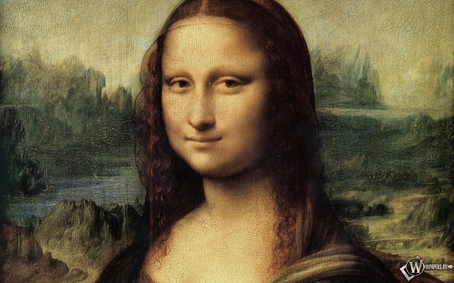 Обои мона лиза портрет картина мона