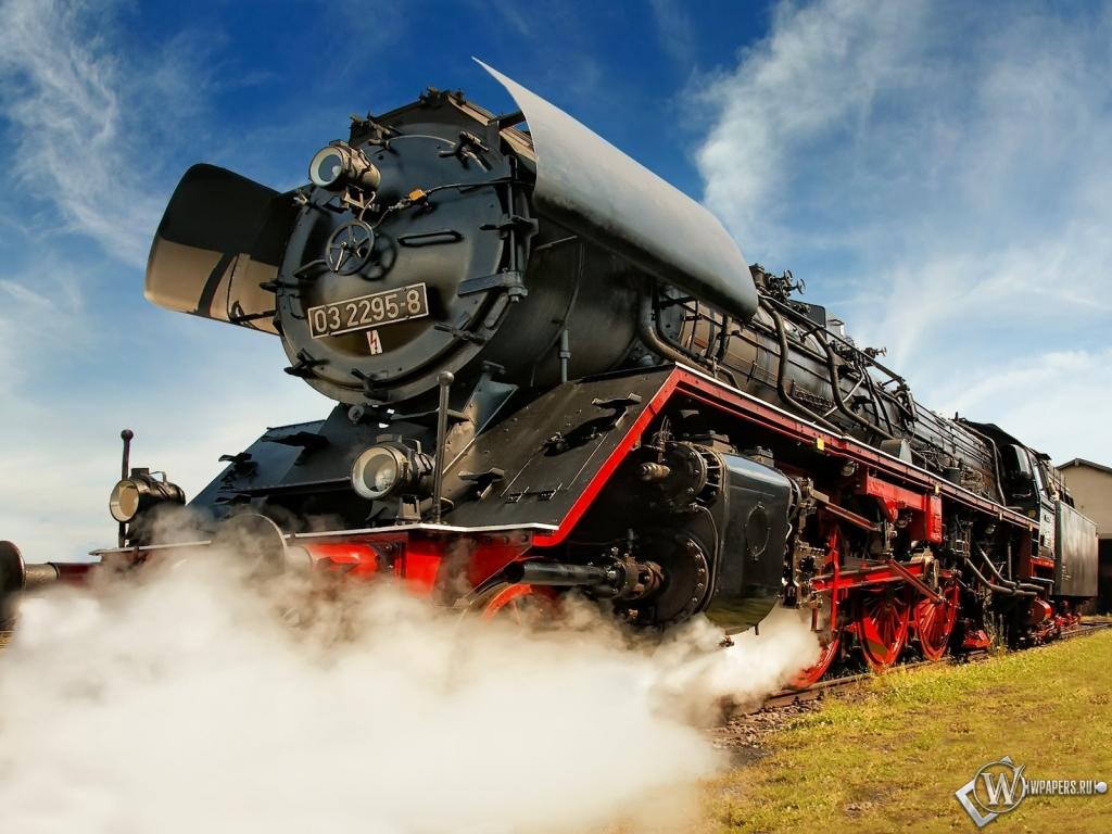 Обои паровоз пар поезд локомотив