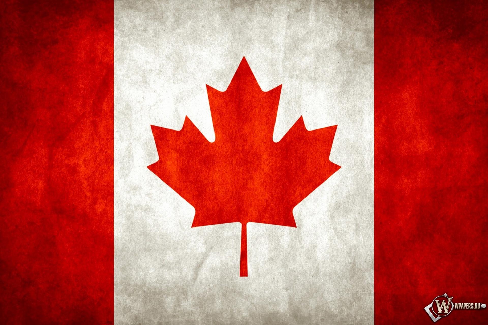 Обои флаг канады лист канада флаг
