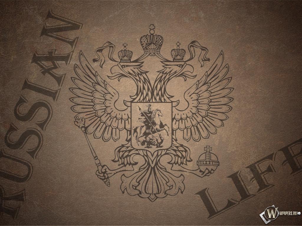 Обои russian life россия герб 1024x768