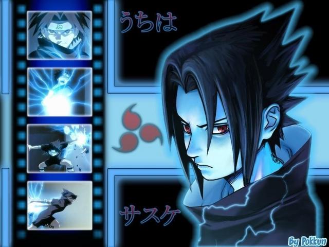 картинки аниме саске: