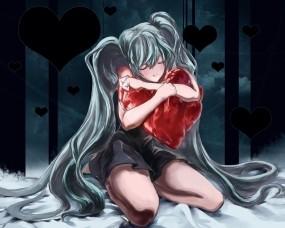 Обои Pandora Hearts: Любовь, Сердце, Аниме, Аниме