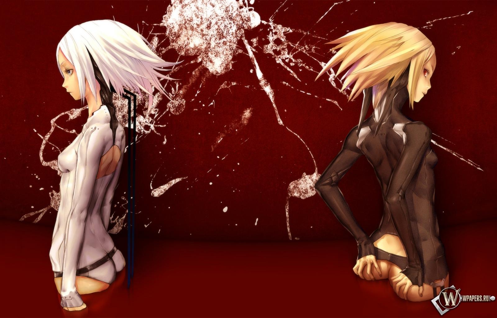 Обои девушки кровь девушки униформа
