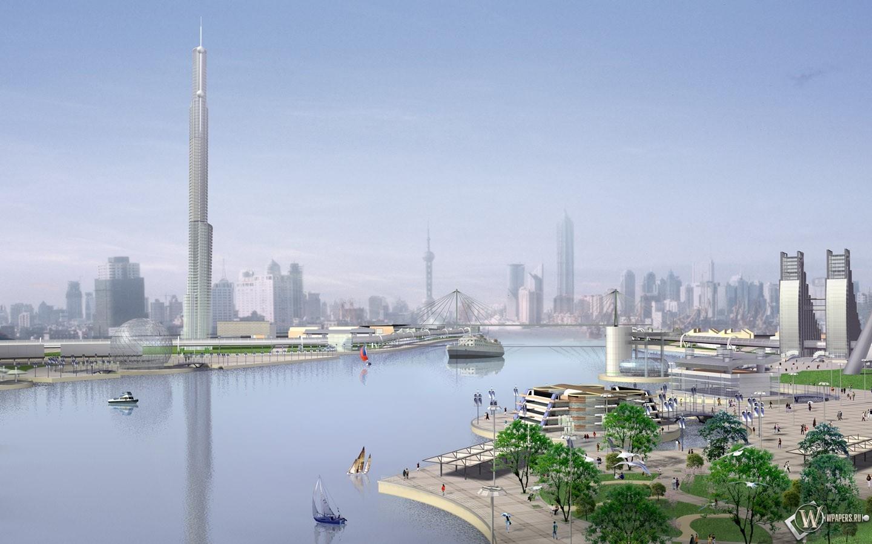 3D город 1440x900