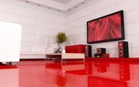 Обои Дизайн квартиры: Мебель, Плазма, Акустика, 3D архитектура