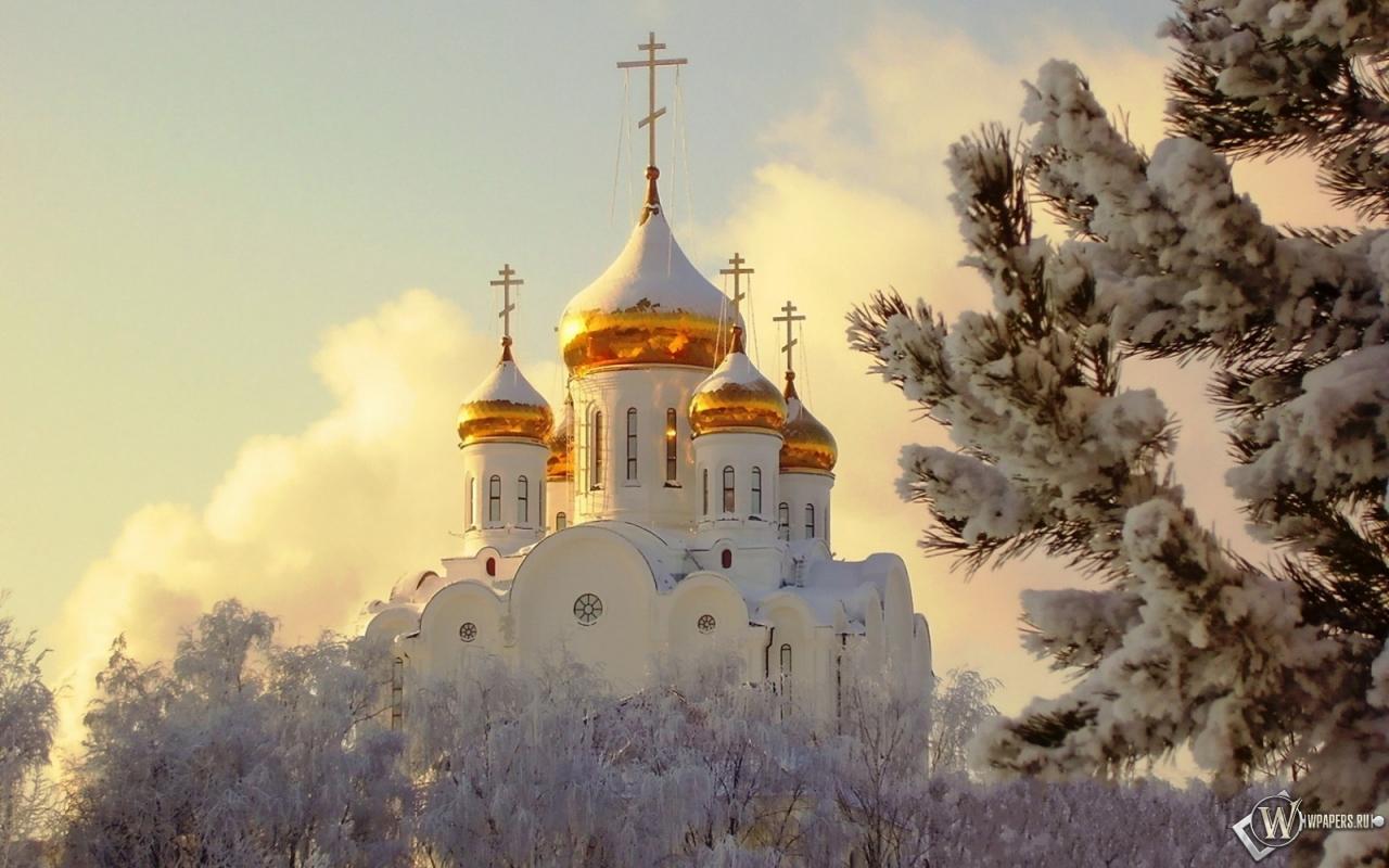Картинки на стол зима церковь