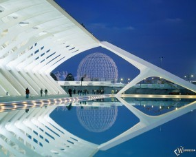 Обои City of Arts and Sciences Valencia Spain: , Прочая архитектура