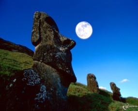 Обои Moa Rano Raraku Easter Island Chile: , Прочая архитектура