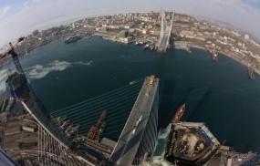 Обои Вантовый мост на острове Русский: Город, Мост, Владивосток, Прочая архитектура