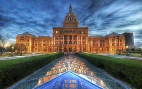 Обои Здание капитолия: Здание, Аллея, Капитолий, Техас, Прочая архитектура