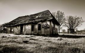 Обои Старинный дом: Развалины, Дом, Сепия, Старина, Прочая архитектура