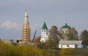 Обои Мечеть рядом с храмом: Казань, Мечеть, Храм, Церковь, Прочая архитектура