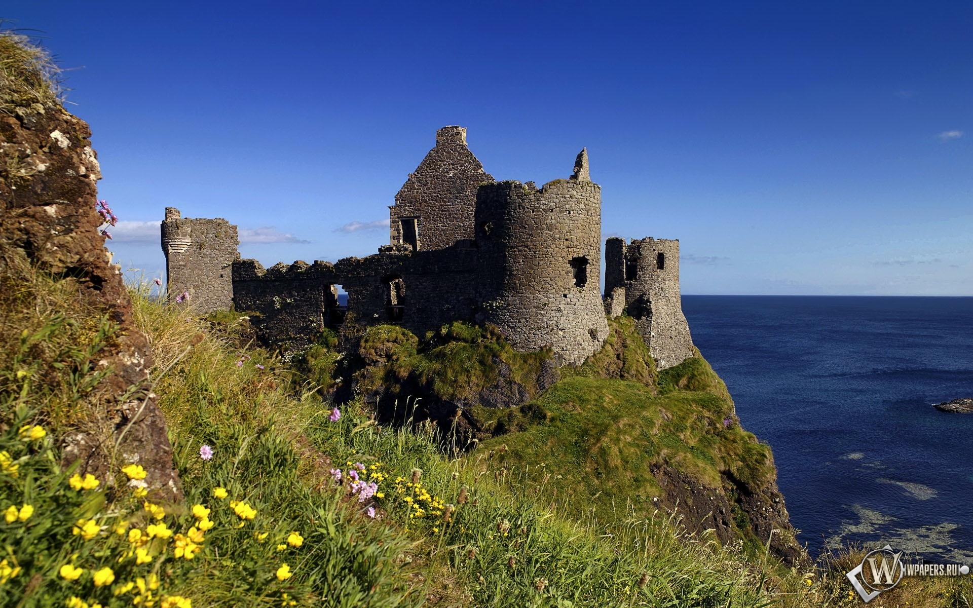 Замок на берегу моря 1920x1200