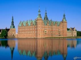 Обои Замок Фредериксборг, Дания: Вода, Замок, Дания, Замки