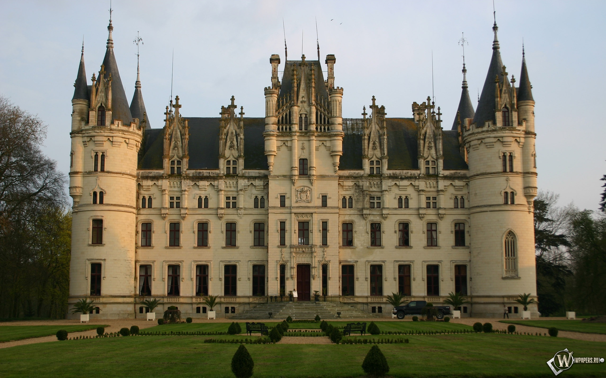 Castle Chateau Challain the Chambord of Anjou Франция 2560x1600