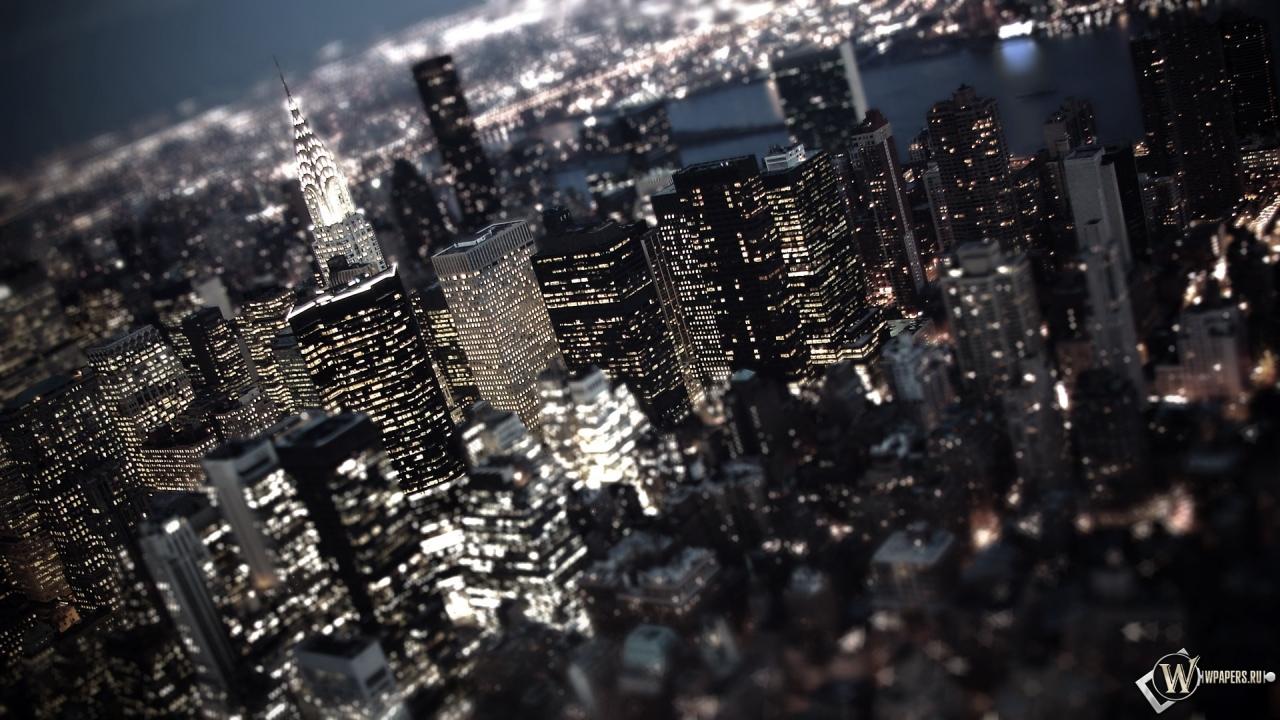 Обои ночной город огни город ночь