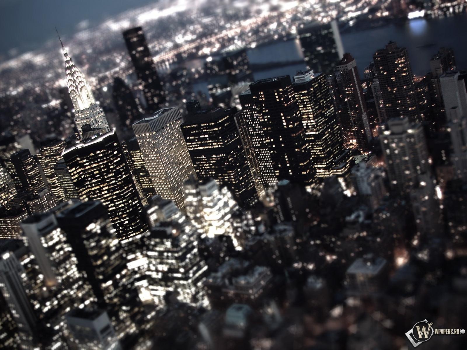Обои, ночной город, огни, город, ночь