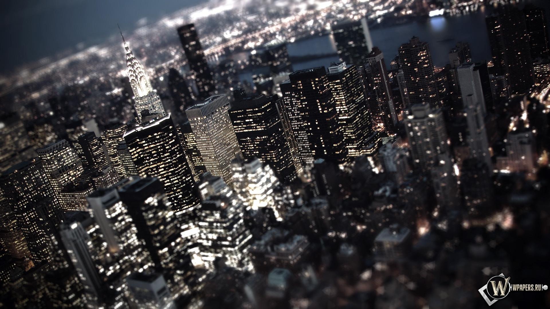 Ночной город 1920x1080