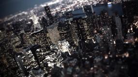 Обои Ночной город: Огни, Город, Ночь, Небоскрёбы, Небоскрёбы